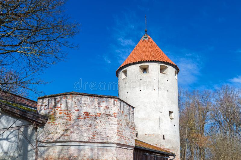 City wall, Landsberg, Germany. Medieval city wall, Landsberg, Bavaria, Germany royalty free stock photography