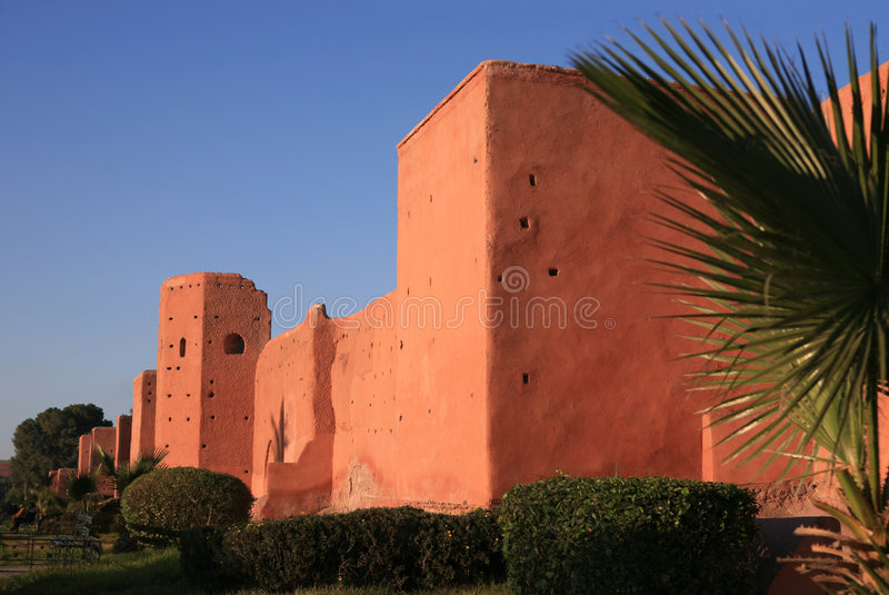 City wall in Marrakech. Old city wall in Marrakech stock image