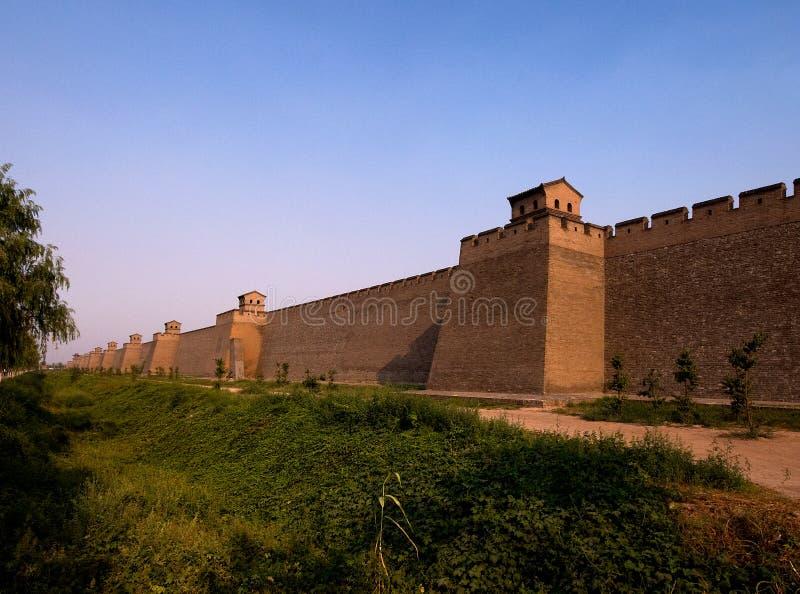 City Wall of Pingyao. The ancient city, China royalty free stock photography
