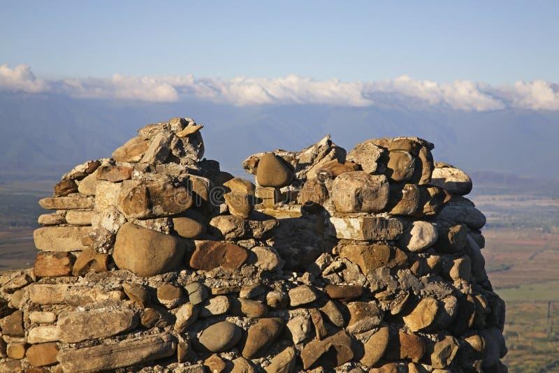 City wall in Sighnaghi. Kakheti. Georgia.  stock image
