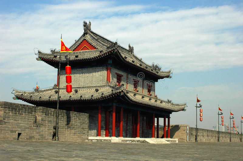 Download City Wall of Xi'an stock photo. Image of city, wall, roof - 11373416