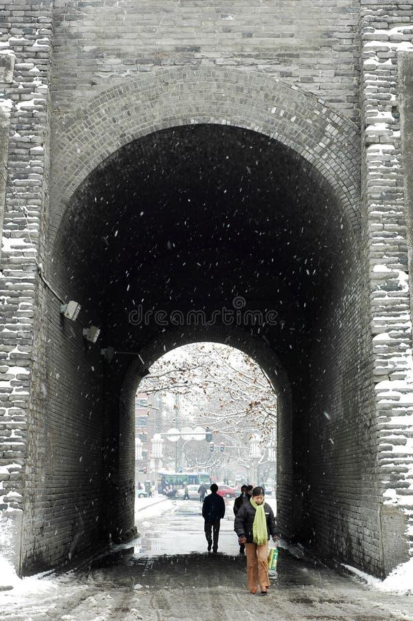 City wall of Xian,China royalty free stock photo