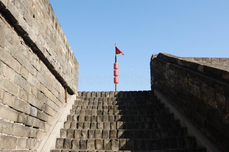 City wall of Xian, China royalty free stock image