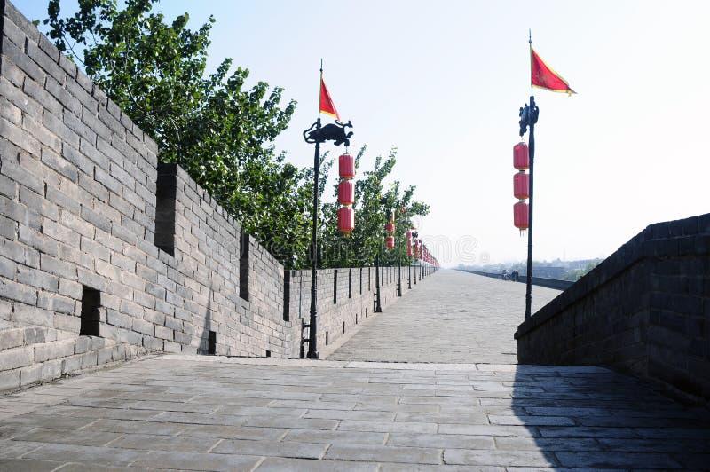 City wall of Xian, China royalty free stock images