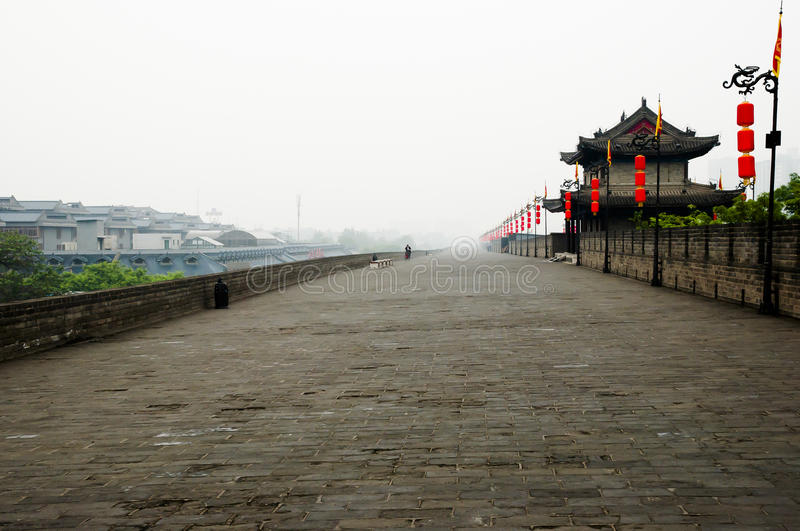 City Wall - Xian - China. City Wall in Xian - China royalty free stock image