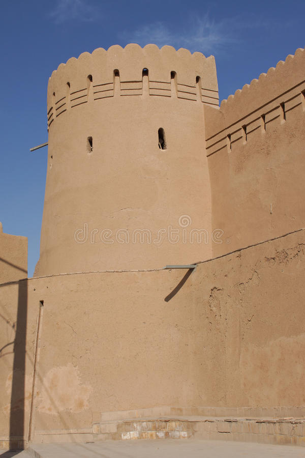 City Wall, Yazd, Iran. City Wall of Yazd, Iran, Asia stock photography