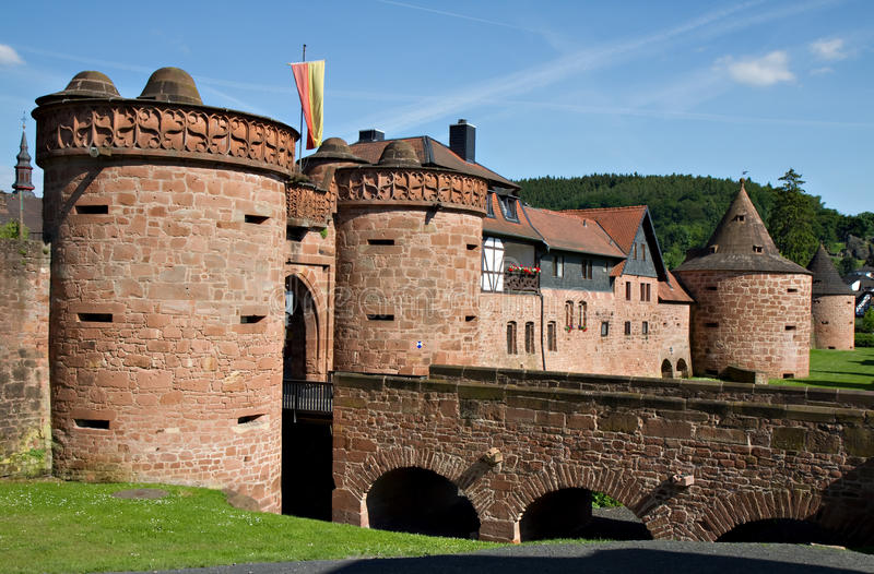 City Walls Of Buedingen Royalty Free Stock Images
