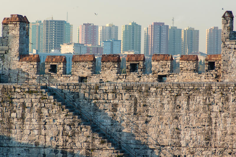 City walls of Istanbul, Turkey royalty free stock photo