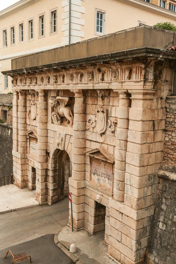 The Land Gate to the old town of Zadar royalty free stock image
