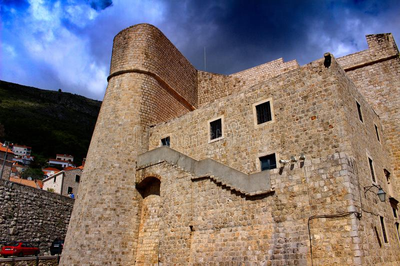 The city walls of the old town of Dubrovnik stock photo