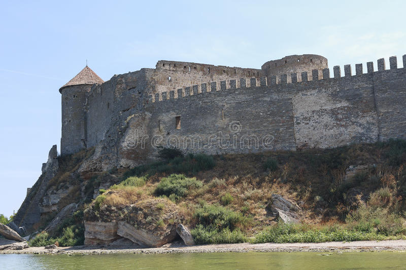 City walls and towers of the old fortress royalty free stock photo