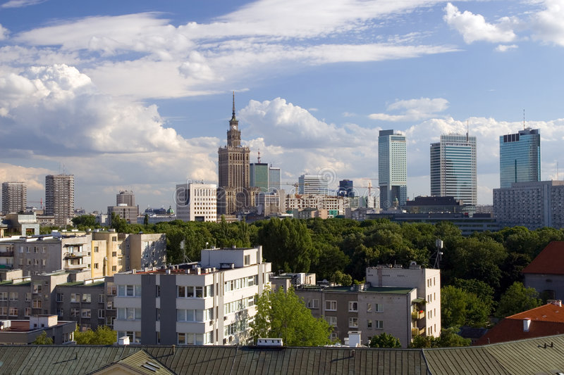 City of Warsaw stock photo