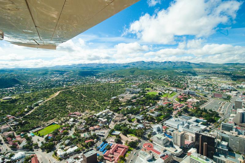 City of Windhoek, Namibia, aerial view Windhoek stock photo