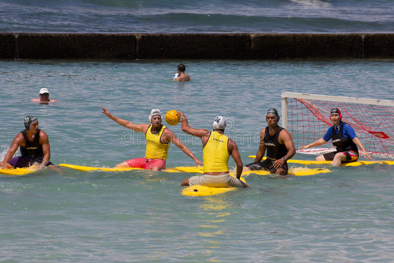 City Workers. Event: Outrigger Hotels Surf Polo Tournament, Duke Kahanamoku Foundation OceanFest, 28.VIII.11 Location: Baby Queens, Waikiki, on the island of O' stock images