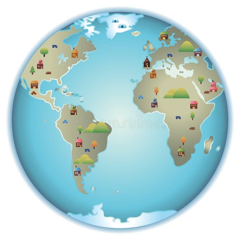 Download City World stock illustration. Illustration of round - 14771956