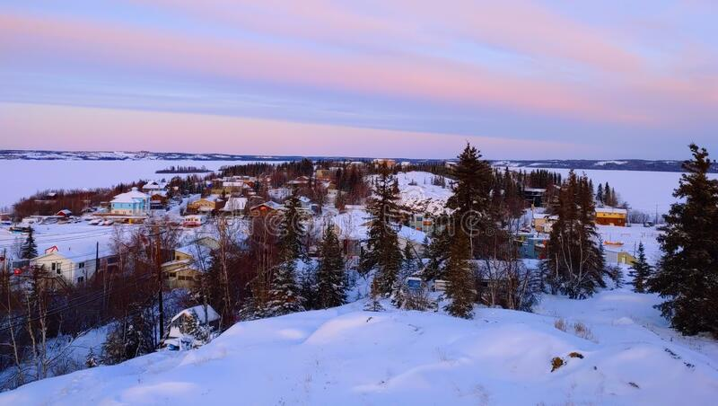 City of Yellowknife in Canada royalty free stock photos