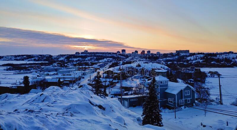 City of Yellowknife in Canada stock photography