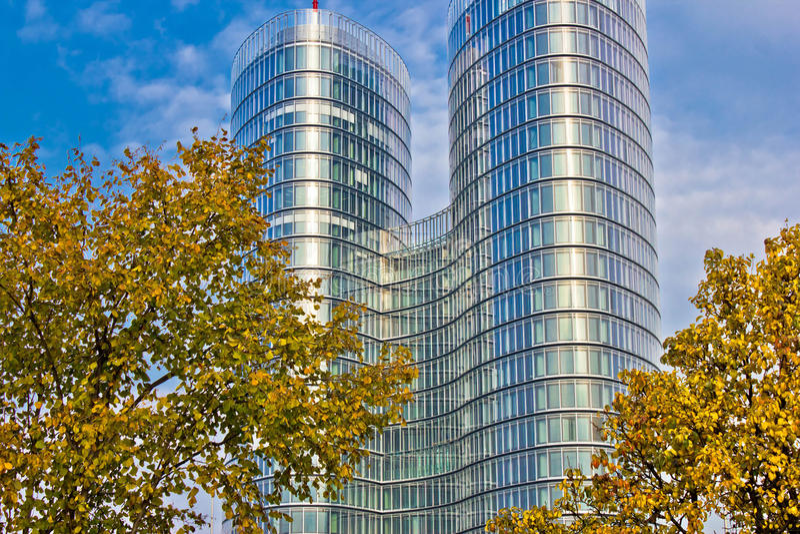 City of Zagreb modern architecture stock photography