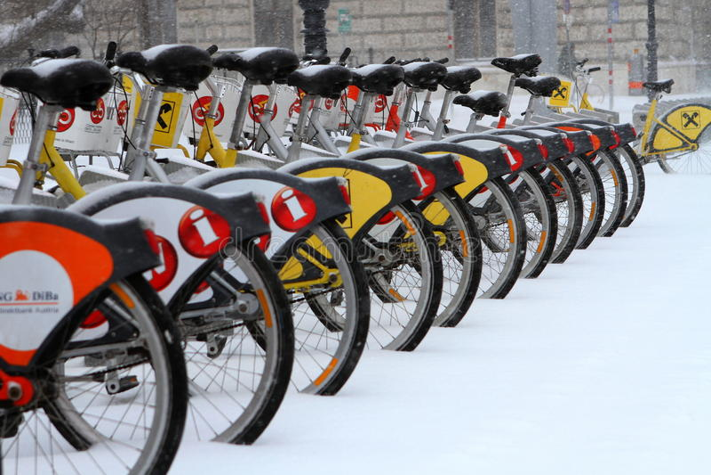 CityBike Vienna dopo la neve immagini stock