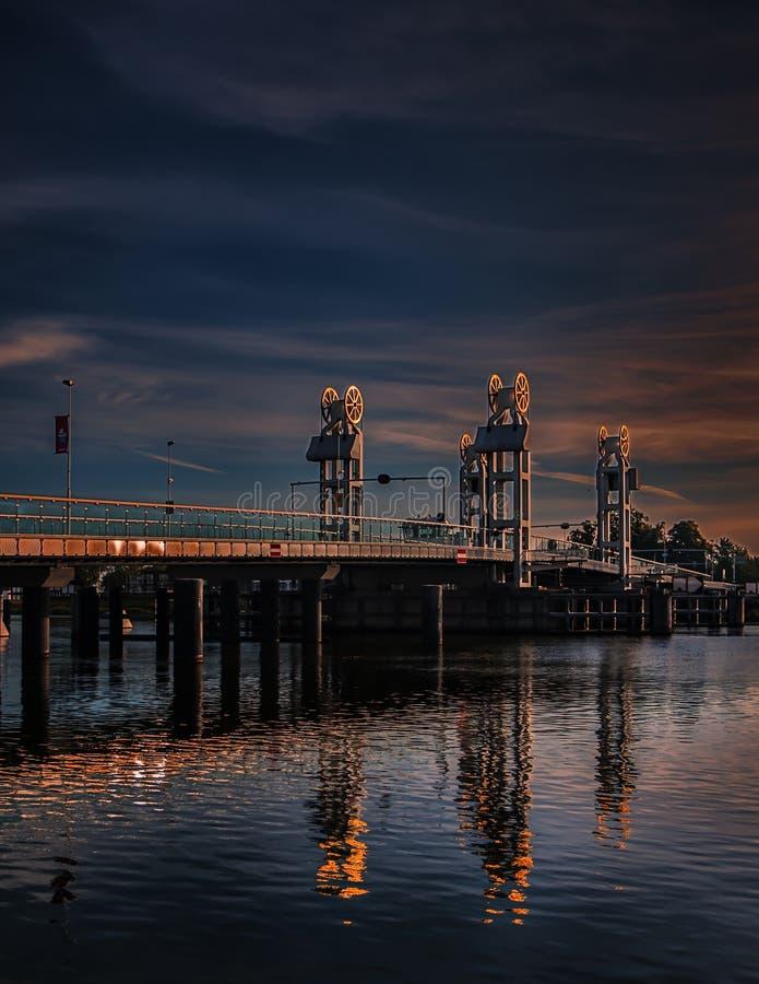 Citybridge Kampen, река IJssel стоковая фотография rf