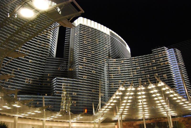 CityCenter, прокладка Лас-Вегас, метрополия, район метрополитена, ориентир ориентир, строя стоковое фото rf
