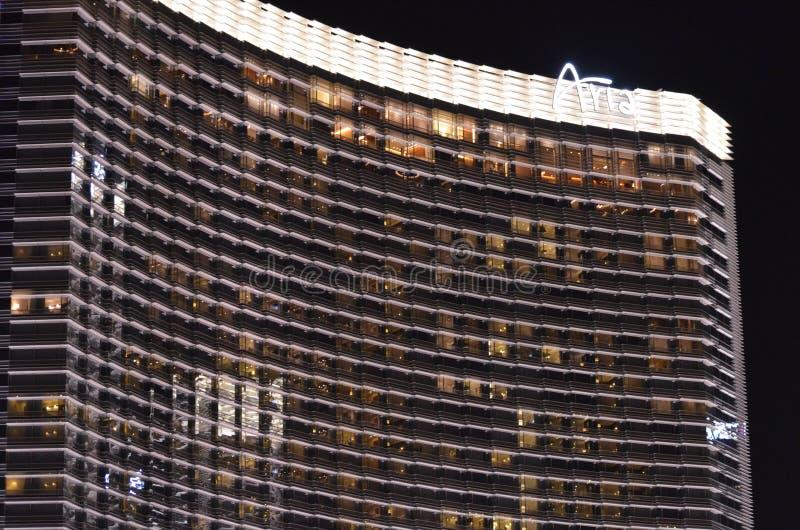 CityCenter, прокладка Лас-Вегас, небоскреб, ориентир ориентир, многоквартирный дом, строя стоковое фото