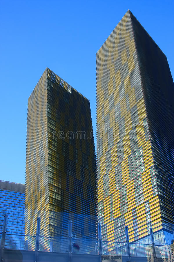 citycenter las οι πύργοι στρέφουν τα vegas στοκ φωτογραφία με δικαίωμα ελεύθερης χρήσης