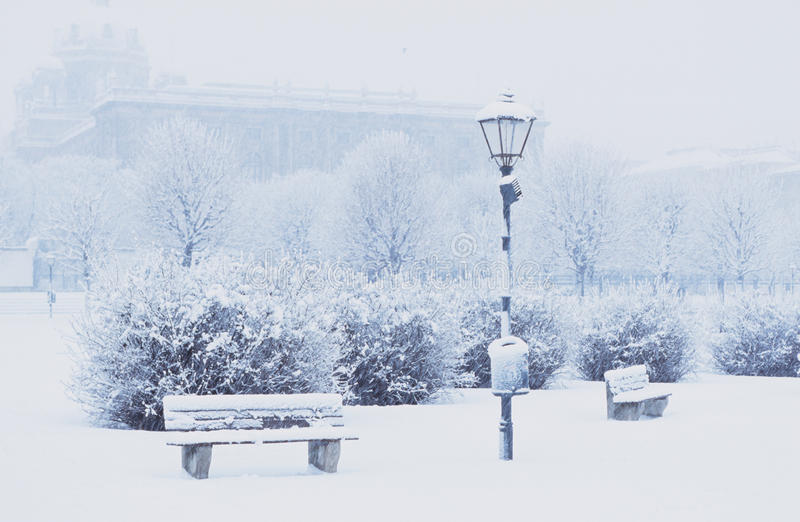 Download Citycenter snowbound stock photo. Image of street, wintertime - 17328340