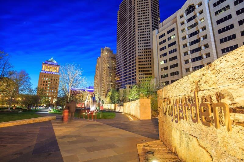 Citygarden público en St. Louis céntrico imagenes de archivo