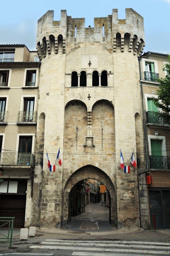 Citygate av Manosque royaltyfri fotografi
