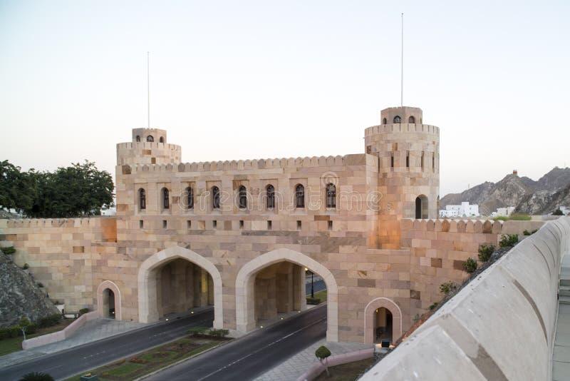 Citygatemuscateldruif, Oman royalty-vrije stock afbeelding