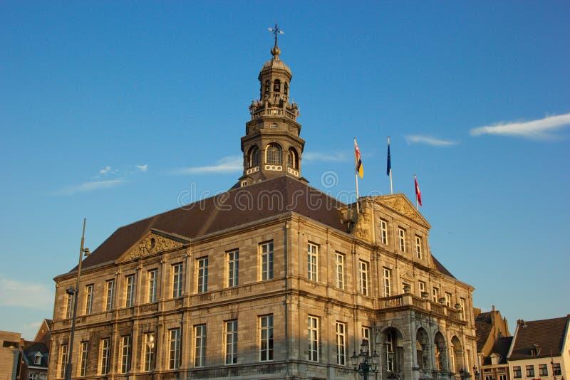 CityHall大厦在马斯特里赫特,荷兰,欧洲 库存照片