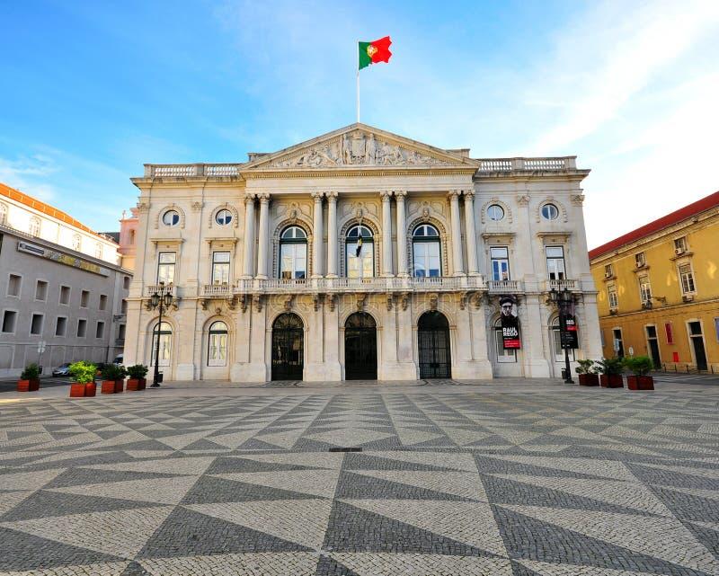 Cityhall Лиссабона стоковое изображение rf