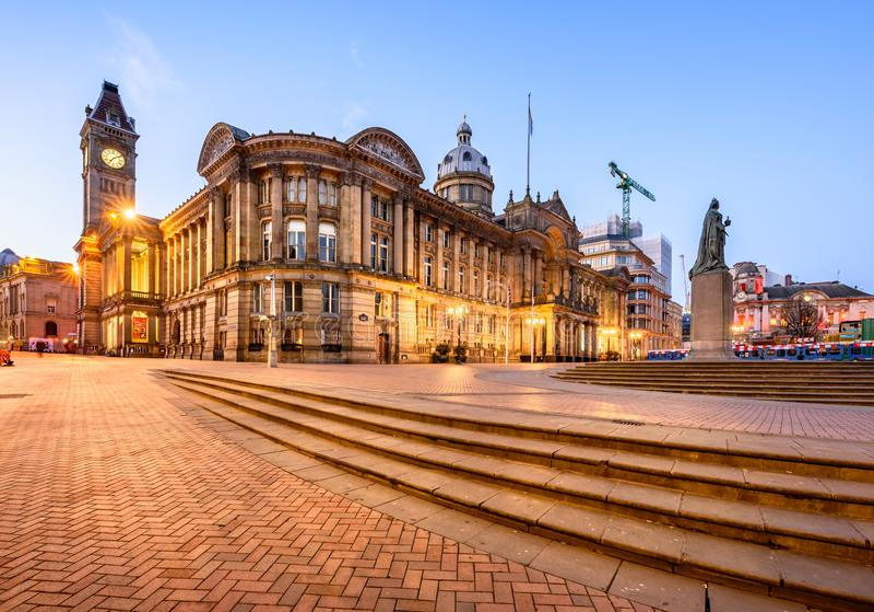 Cityhall Birmingham obrazy royalty free