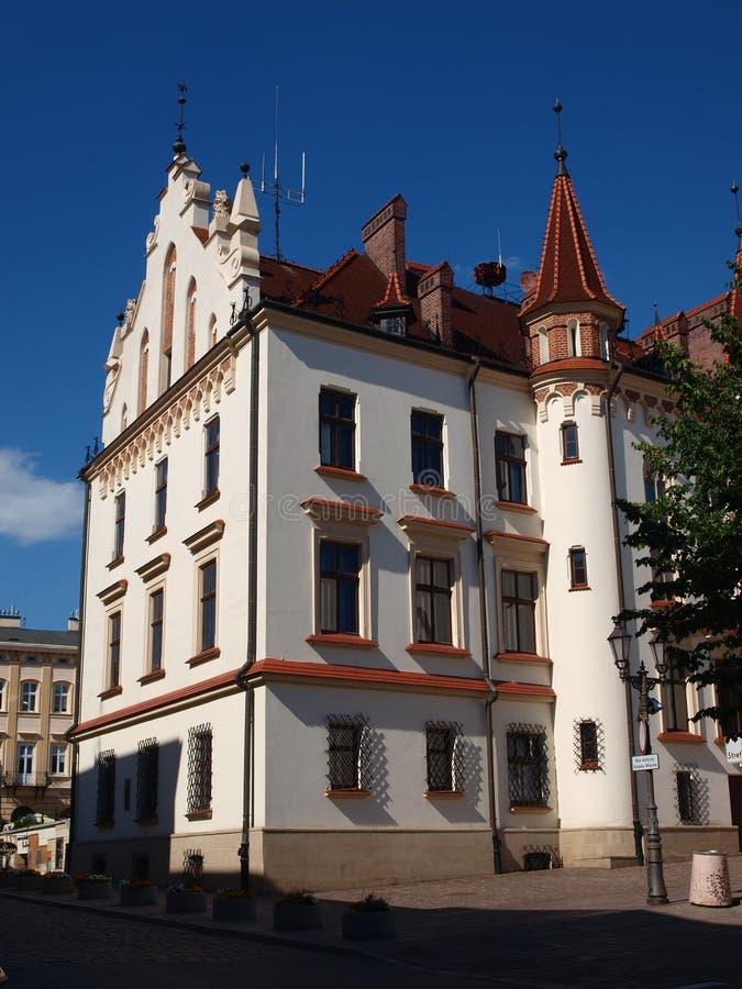 Cityhall da cidade do ³ w de RzeszÃ, Polônia imagem de stock royalty free