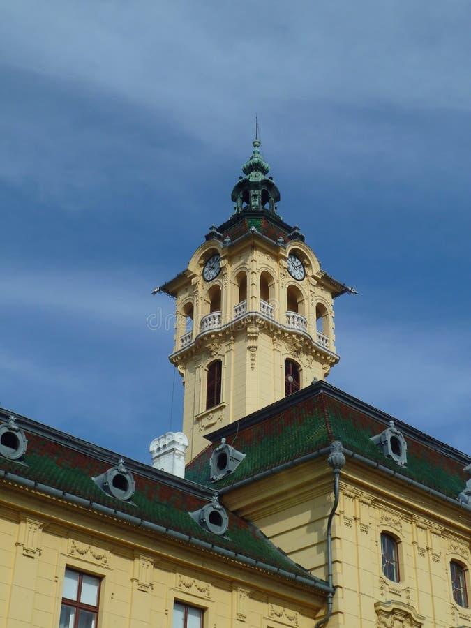 Cityhall de Szeged, Hungria fotos de stock royalty free