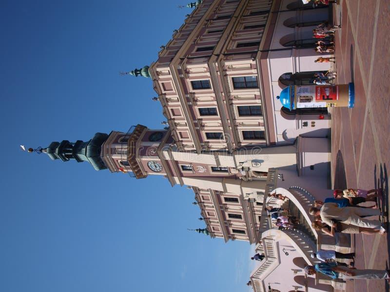 cityhall Poland zamosc fotografia stock