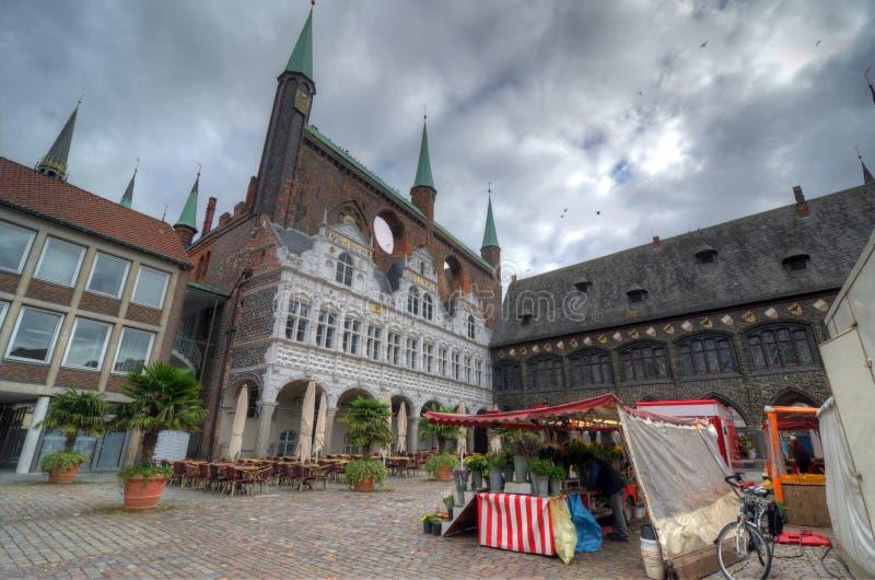 Cityhall van Lübeck royalty-vrije stock foto