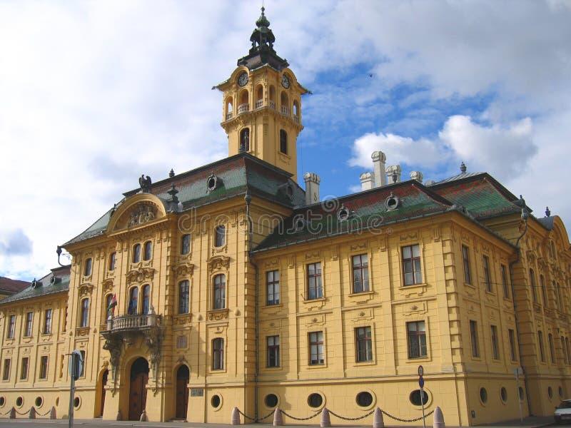 Cityhall van Szeged 01, Hongarije stock afbeeldingen