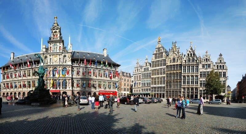 Cityhallen av Antwerpen royaltyfri foto