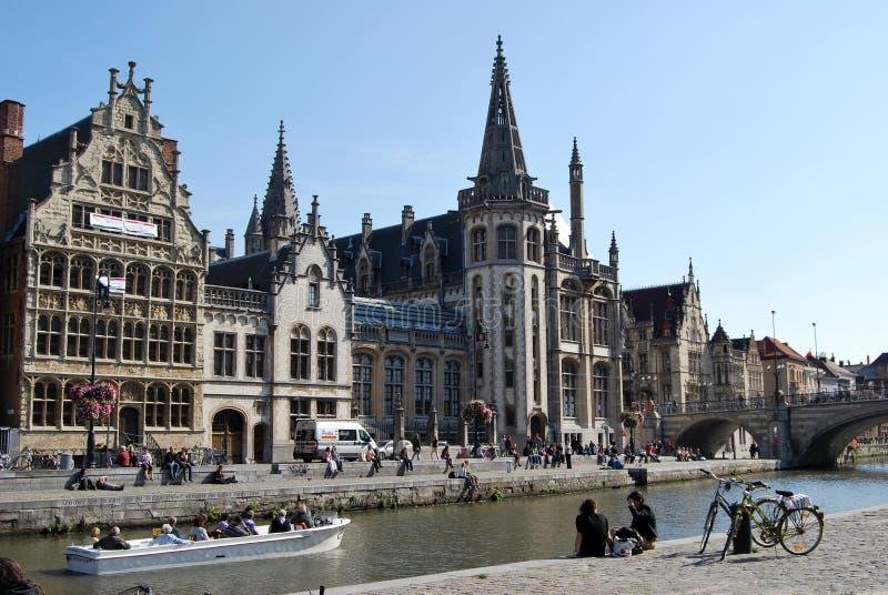 Citylife à Gand, Belgique photographie stock libre de droits