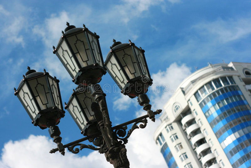 citylight royaltyfria bilder