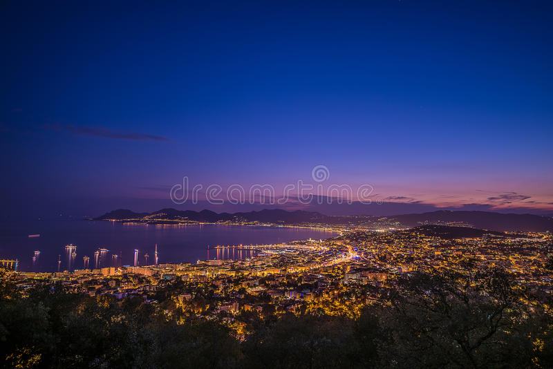 Citylight in Cannes stock image