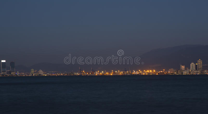 Download Izmir Skyline - A View From Port Of Izmir Stock Photo - Image of lights, nightview: 42850806