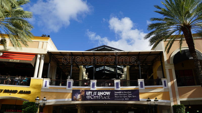 CityPlace στο δυτικό Palm Beach, Φλώριδα στοκ εικόνες