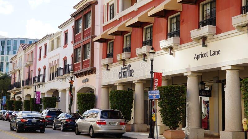 CityPlace στο δυτικό Palm Beach, Φλώριδα στοκ φωτογραφίες