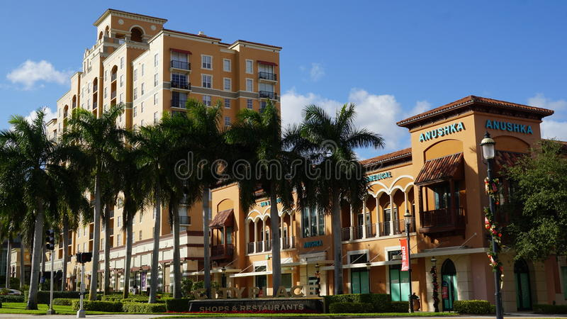 CityPlace στο δυτικό Palm Beach, Φλώριδα στοκ εικόνες με δικαίωμα ελεύθερης χρήσης