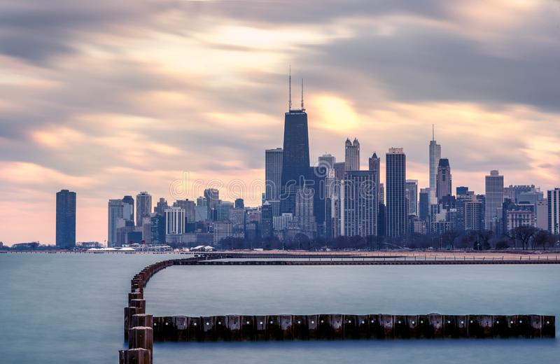 CHICAGO IL skyline usa stock photography