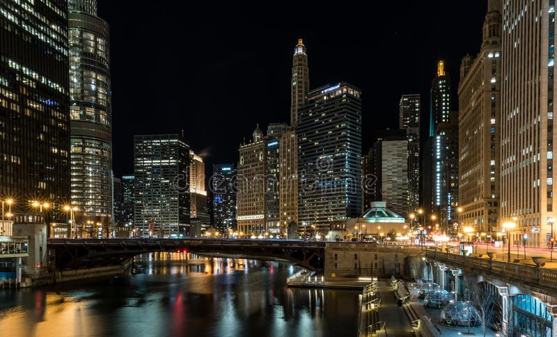 CHICAGO IL skyline usa royalty free stock photography
