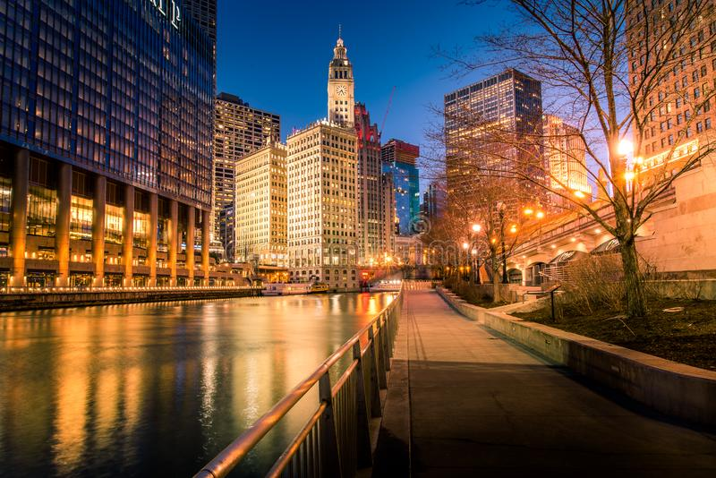 CHICAGO IL skyline usa royalty free stock images